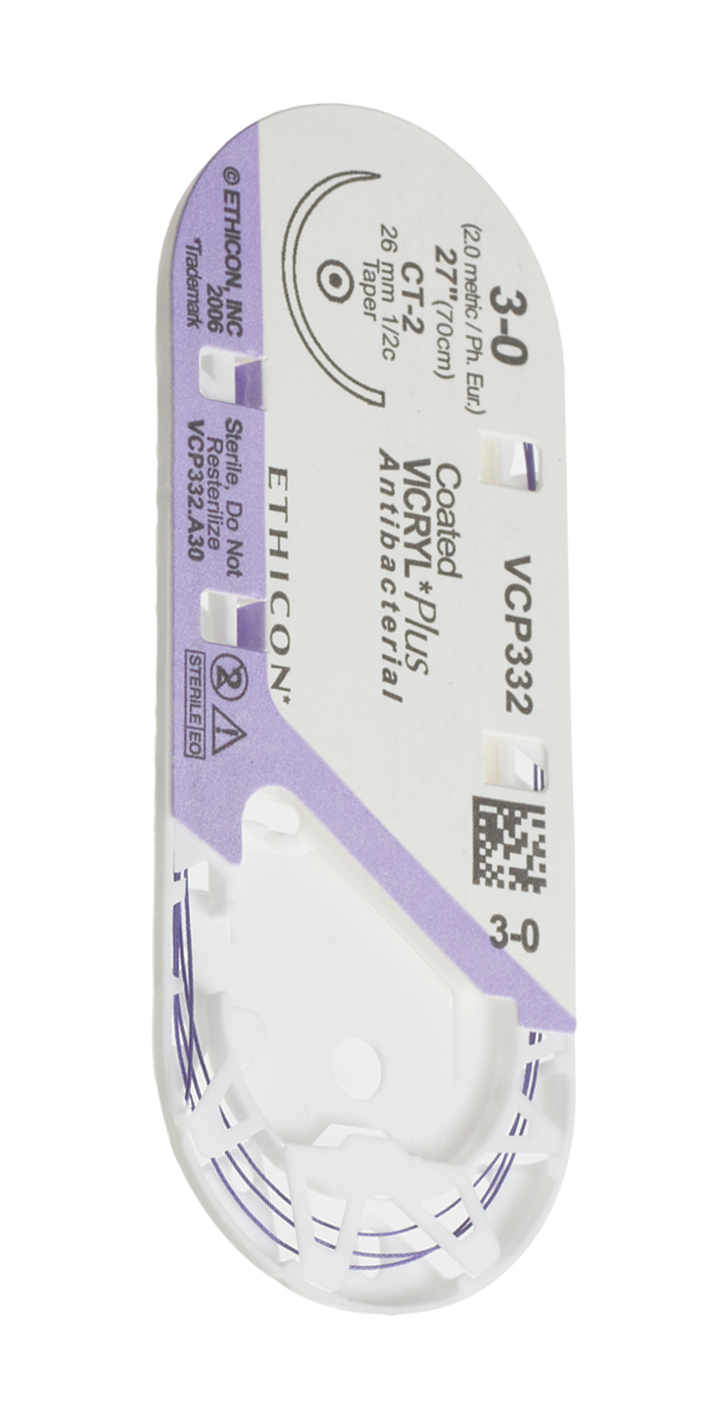 Coated VICRYL™ Plus Antibacterial (polyglactin 910) Suture